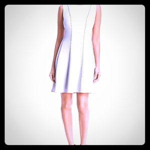 Donna Karan Winter Garden  Studded A line dress